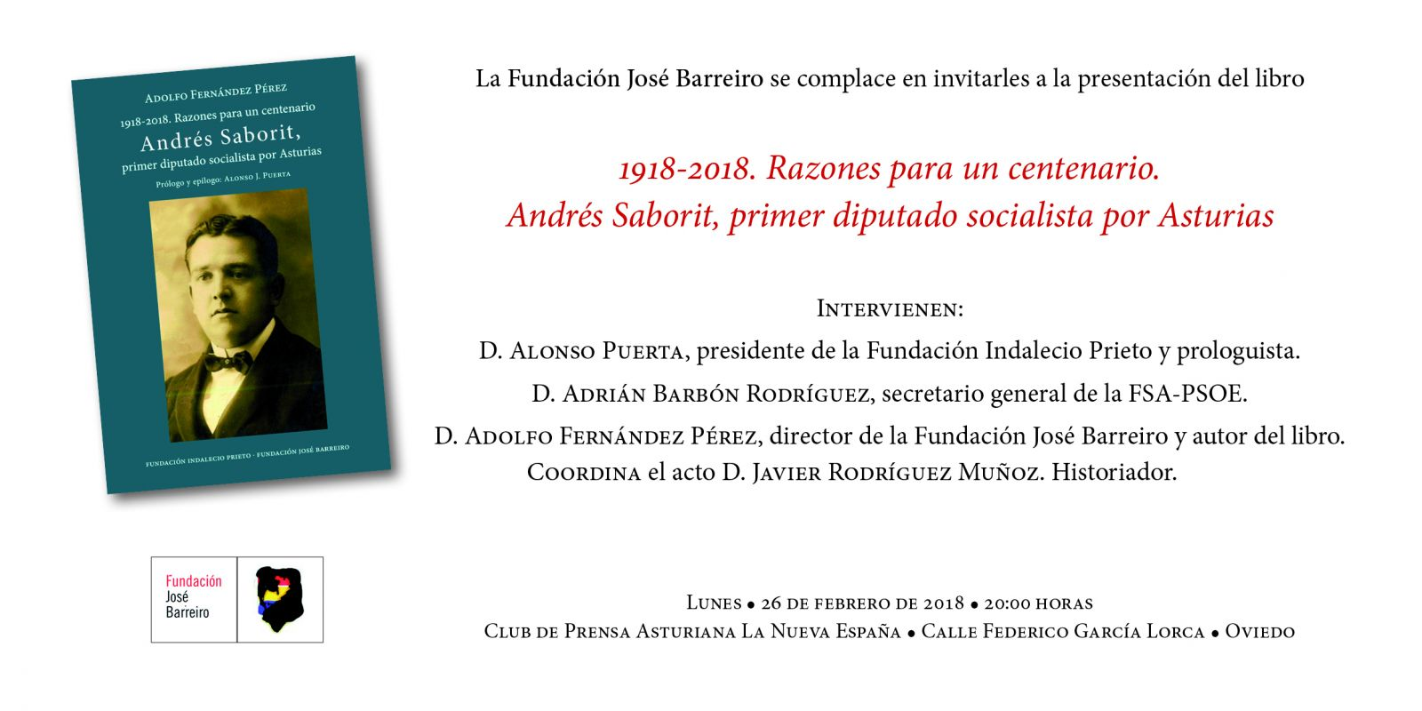 1918-2018. Razones para un centenario. Andrés Saborit. Primer diputado socialista por Asturias