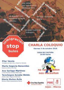 Charla-coloquio: INMIGRACIÓN. STOP BULOS @ Casa de Cultura de Mieres