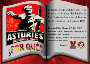 Conferencia-Debate: LA REVOLUCIÓN DE OCTUBRE DE 1934 @ Casa del Pueblo de La Güeria