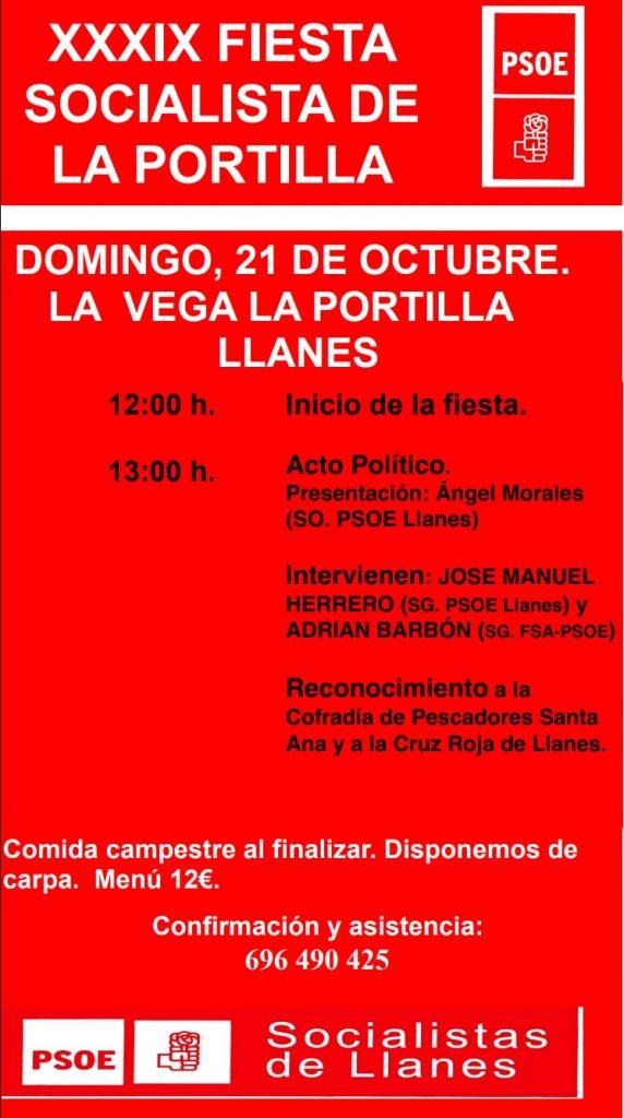 XXXIX FIESTA SOCIALISTA DE LA PORTILLA @ La Vega La Portilla - LLANES