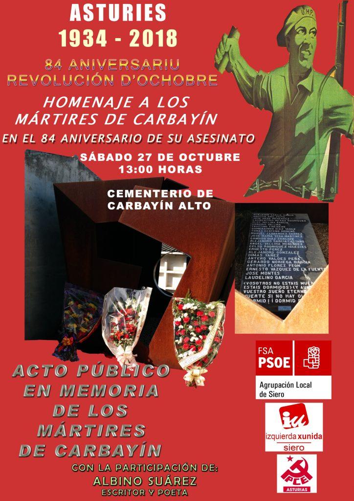 Homenaje a los mártires de Carbayín @ Cementerio de Carbayín Alto - SIERO