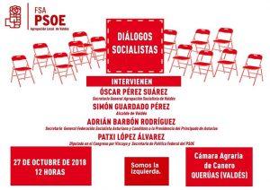 «Diálogos socialistas» con Adrián Barbón y Patxi López · Valdés @ Cámara Agraria de Canero
