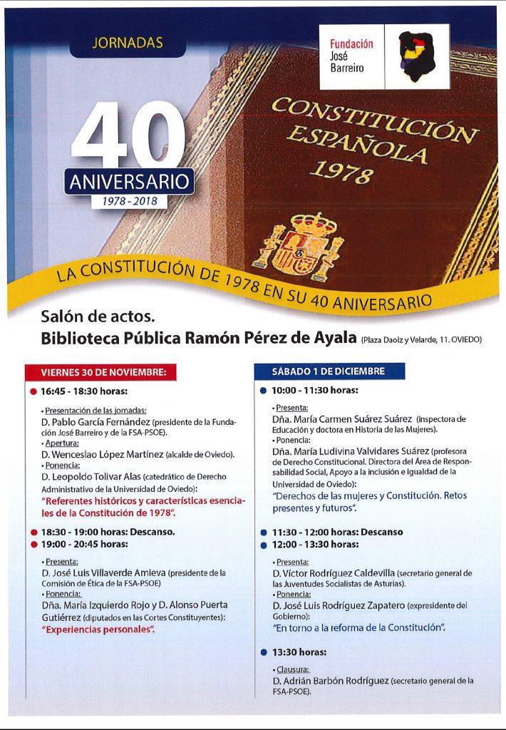 """Jornadas """"La Constitución de 1978 en su 40 aniversario"""" @ Salón de actos de la Biblioteca Pública Ramón Pérez de Ayala"""