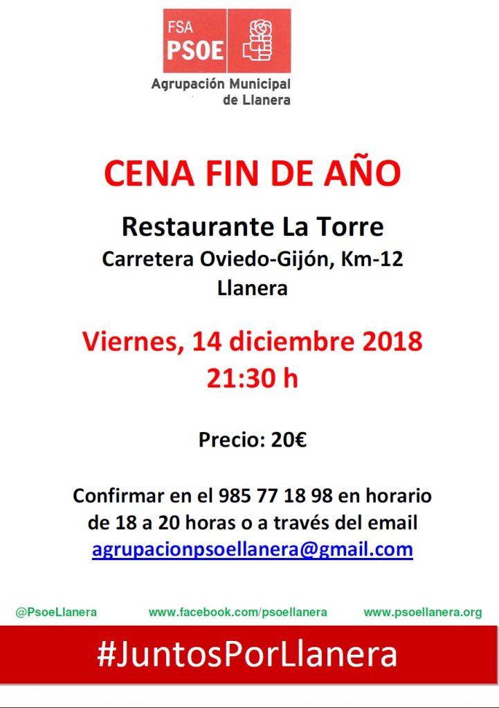 Llanera - Cena FIN DE AÑO @ Restaurante La Torre