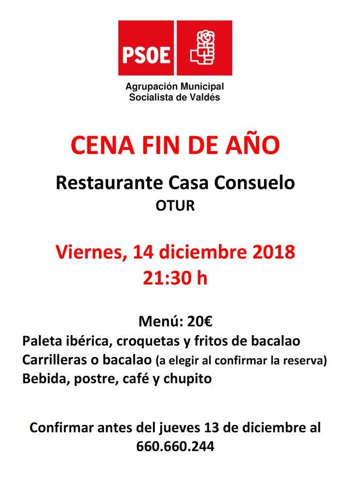Valdés - Cena FIN DE AÑO @ Restaurante Casa Consuelo