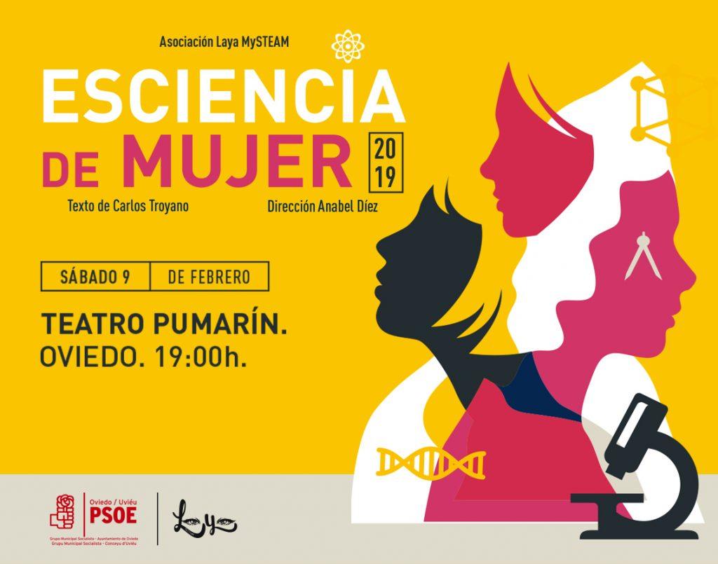 """Obra de teatro """"ESCIENCIA DE MUJER"""" realizada por la Asociación Laya Mysteam @ Teatro Pumarín"""