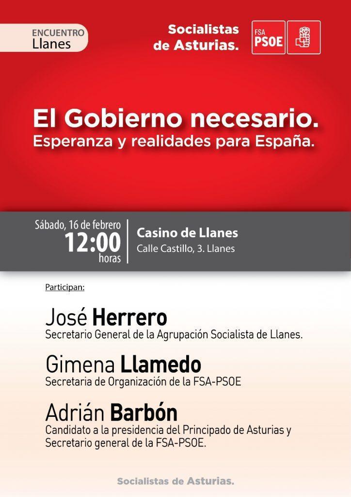 """ADRIÁN BARBÓN en el Encuentro: """"EL GOBIERNO NECESARIO. Esperanza y realidades para España"""" @ Casino de Llanes"""