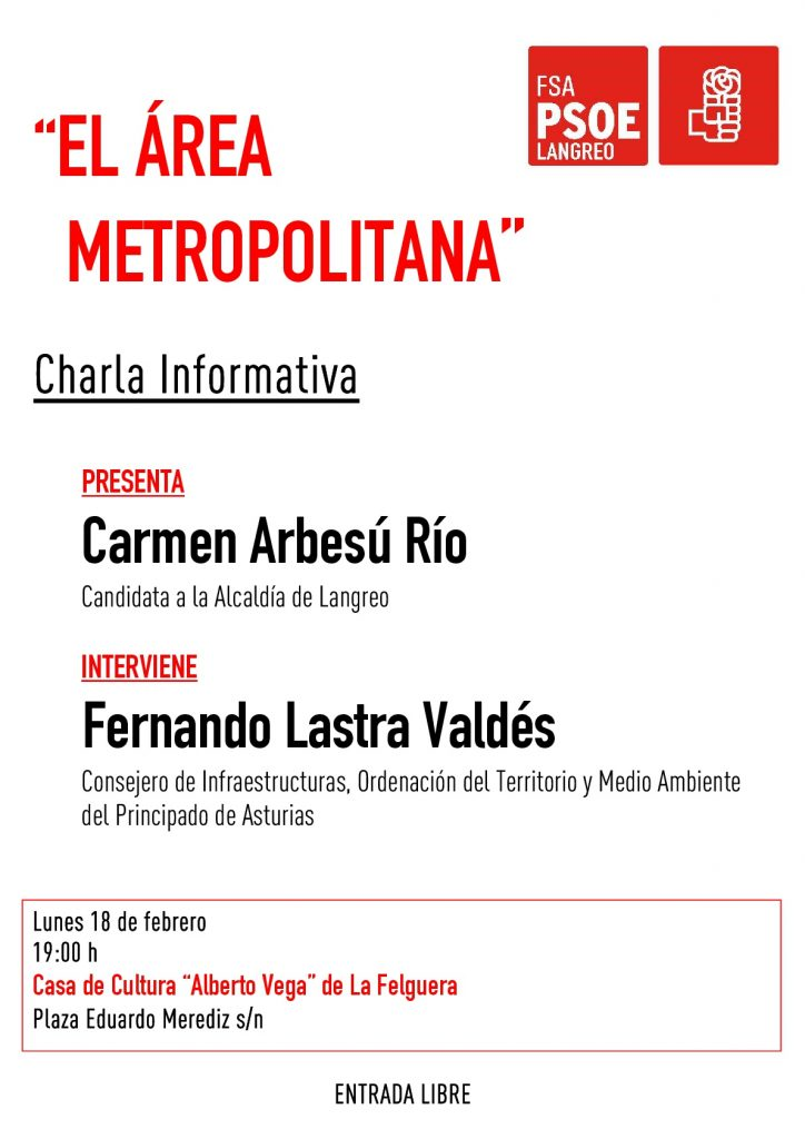 "Charla Informativa: ""EL ÁREA METROPOLITANA"" @ Casa de Cultura ""Alberto Vega"""