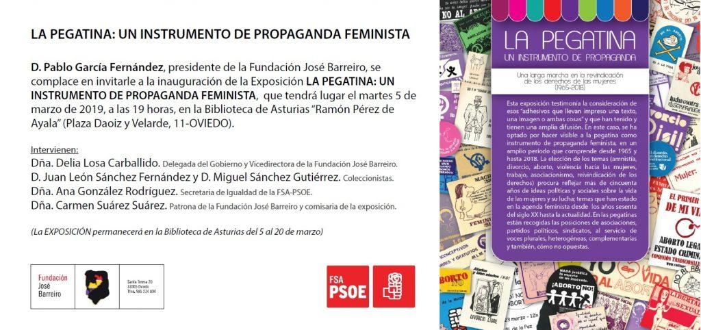 """Inauguración de la Exposición """"LA PEGATINA: UN INSTRUMENTO DE PROPAGANDA FEMINISTA"""" @ Biblioteca de Asturias """"Ramón Pérez de Ayala"""""""