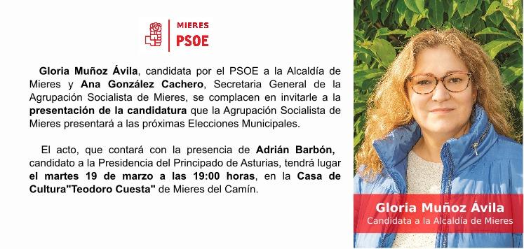 """Presentación de la candidatura municipal socialista de MIERES @ Casa de Cultura """"Teodoro Cuesta"""""""