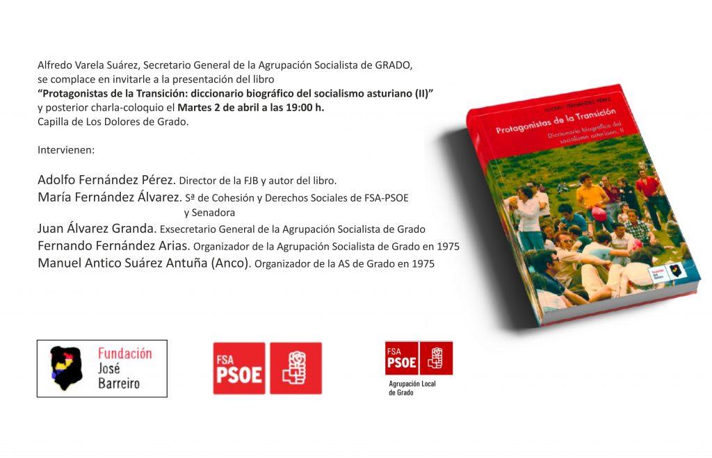 """Presentación del libro: """"PROTAGONISTAS DE LA TRANSICIÓN. Diccionario biográfico del socialismo asturiano (II)"""" @ Capilla de Los Dolores"""