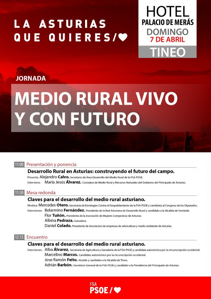 Jornada: MEDIO RURAL VIVO Y CON FUTURO @ Palacio de Merás