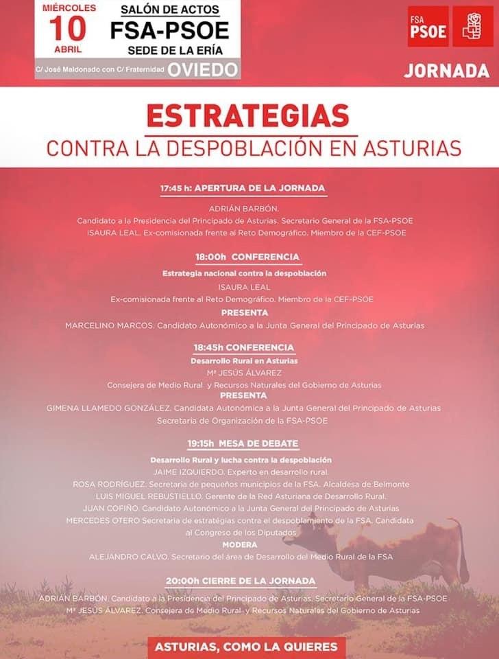 Jornada: ESTRATEGIAS CONTRA LA DESPOBLACIÓN EN ASTURIAS @ Salón de Actos de la FSA-PSOE
