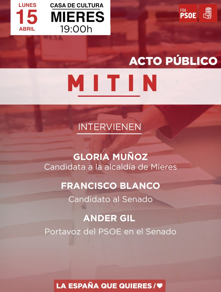 Mitin ANDER GIL, FRANCISCO BLANCO y GLORIA MUÑOZ @ Casa de Cultura