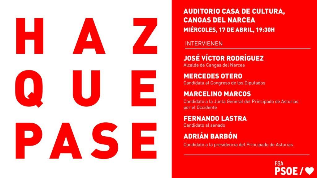 Mitin: ADRIÁN BARBÓN, FERNANDO LASTRA, MARCELINO MARCOS, MERCEDES OTERO y JOSÉ VÍCTOR RODRÍGUEZ @ Auditorio Casa de Cultura