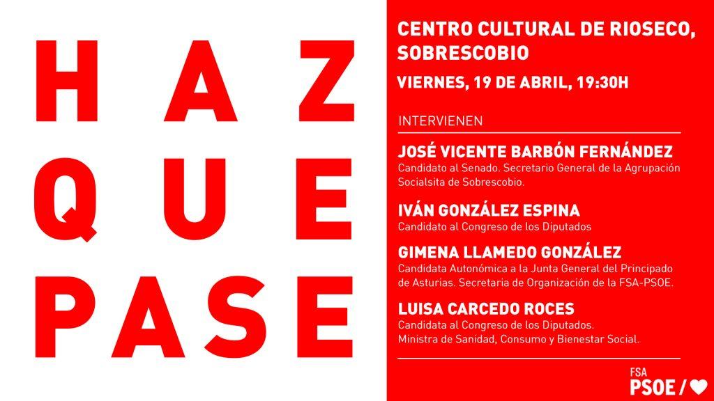 Mitin: LUISA CARCEDO ROCES, GIMENA LLAMEDO GONZÁLEZ, IVÁN GONZÁLEZ ESPINA y JOSÉ VICENTE BARBÓN FERNÁNDEZ @ Centro Cultural