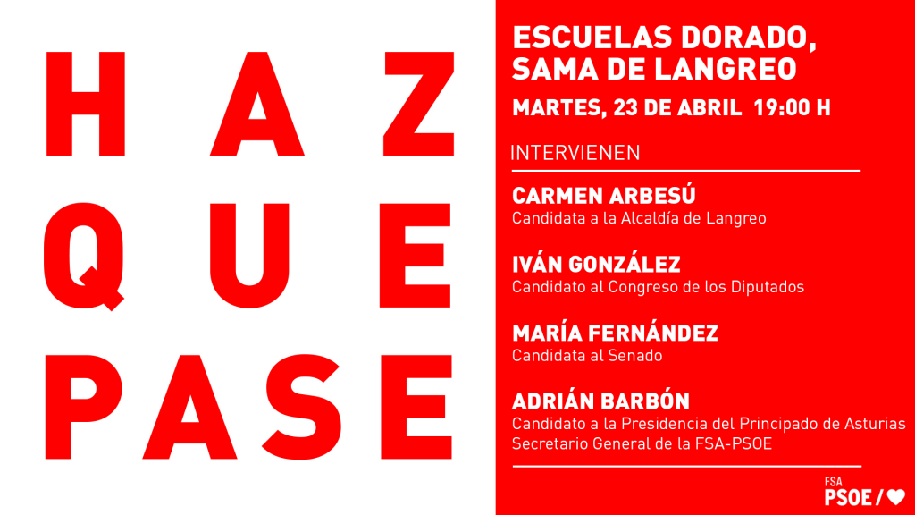 Mitin: ADRIÁN BARBÓN, MARÍA FERNÁNDEZ, IVÁN GONZÁLEZ y CARMEN ARBESÚ @ Escuelas Dorado