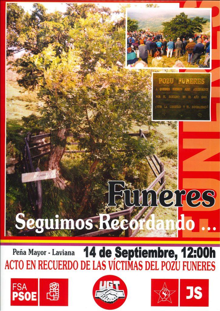 Acto en recuerdo de las Víctimas del POZU FUNERES @ Pozu Funeres