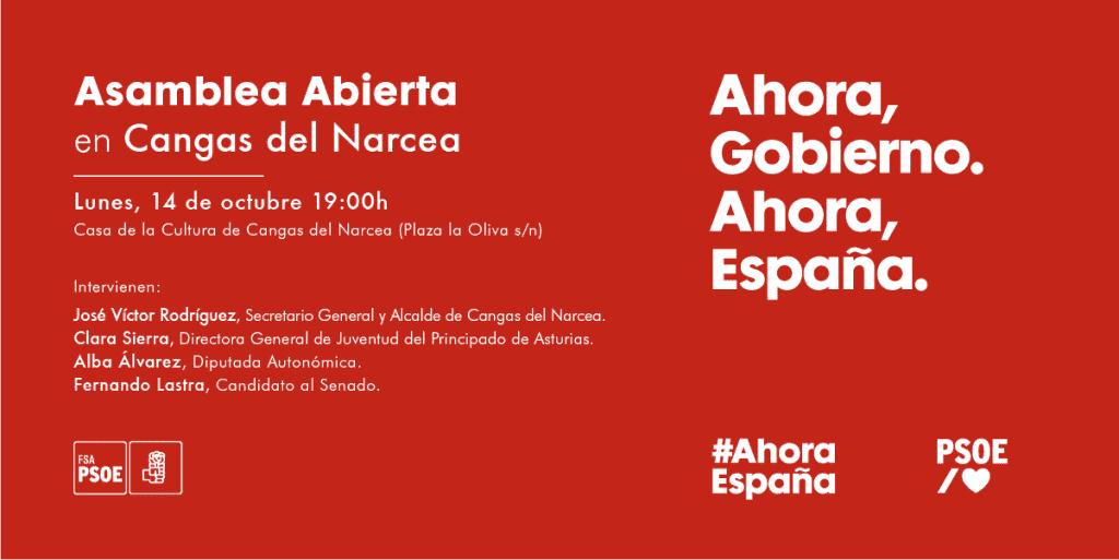 Asamblea Abierta en Cangas del Narcea @ Casa de Cultura de Cangas del Narcea