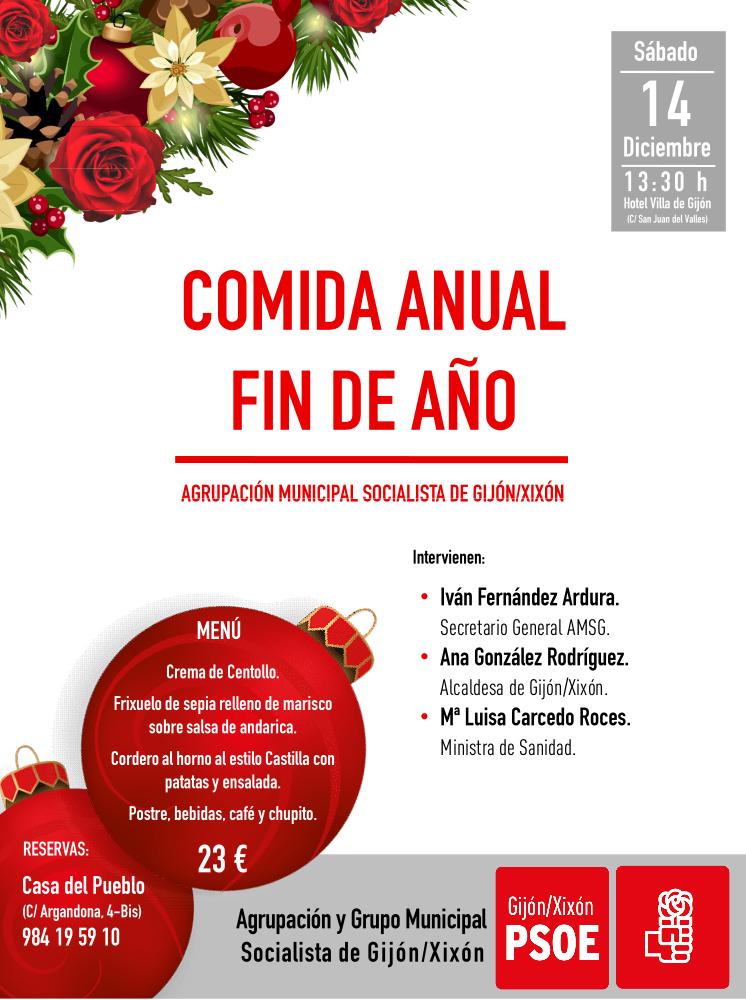 Gijón/Xixón – Luisa Carcedo en la comida anual FIN DE AÑO @ Hotel Villa de Gijón