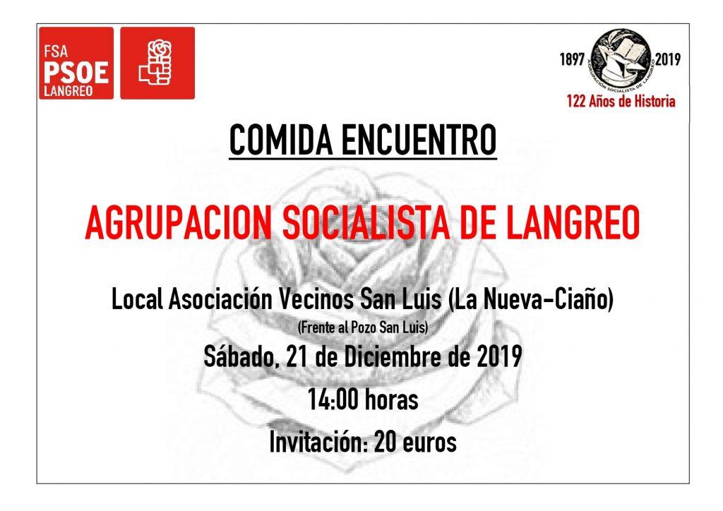 Langreo - Comida Encuentro @ Local Asociación Vecinos San Luis (frente al pozo San Luis)