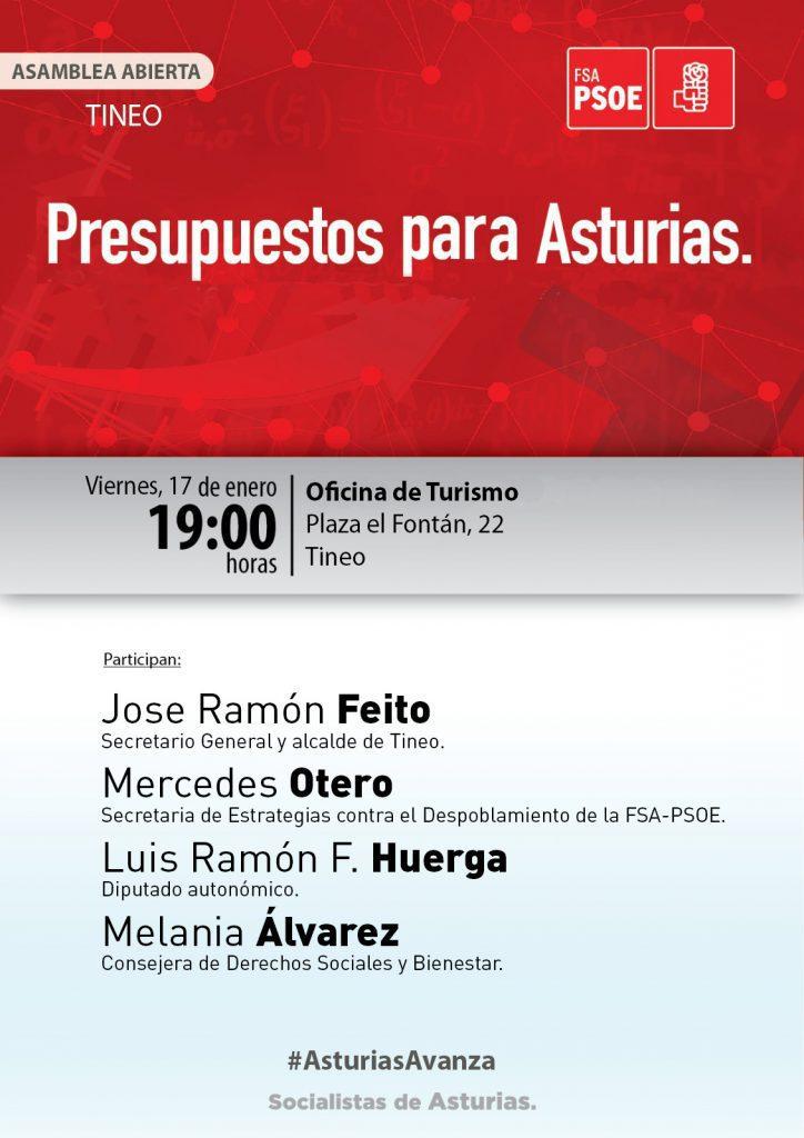 TINEO - Asamblea abierta: PRESUPUESTOS PARA ASTURIAS @ Oficina de Turismo